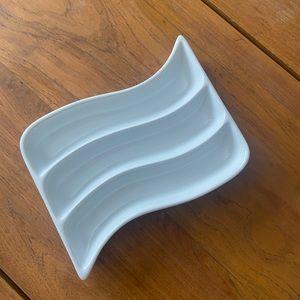 Crate&barrel White Porcelain Appetizer Dish